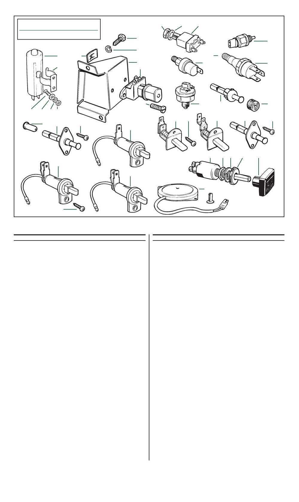 Roadster Factory: Miscellaneous Switches :TR6 Assembly Manual Volume 2  (page 30)