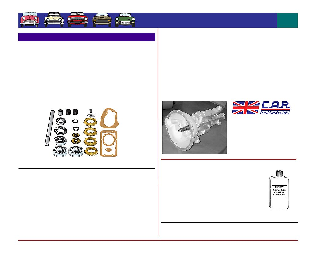 Favourite Parts For Triumph Gearbox Rebuild Kits Tr2 Tr3 Tr4 Wiring Harness Rebuilders Scroll To View Page